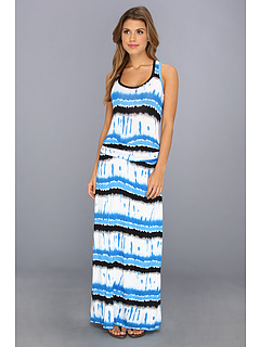 SALE! $68.99 - Save $65 on Calvin Klein Tie Dye Racerback Maxi (Aegean Multi) Apparel - 48.51% OFF $134.00