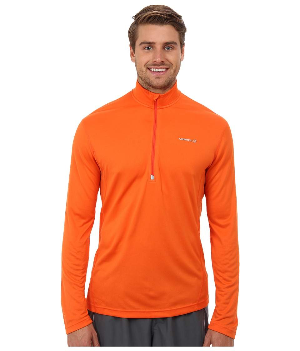 Merrell - Morpheous Half Zip (Merrell Orange) Men's Long Sleeve Pullover