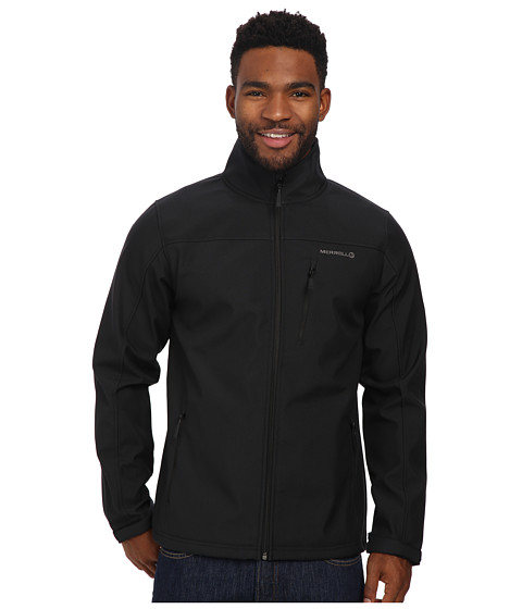 Merrell - Falcon Soft Shell (Black) Men's Fleece