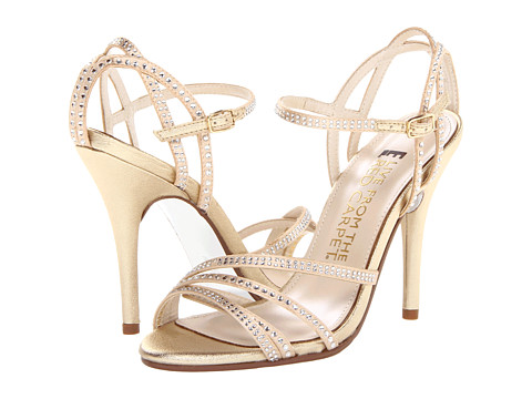 E! Live from the Red Carpet - Zahara (Gold Nugget Vitello) Women's Dress Sandals
