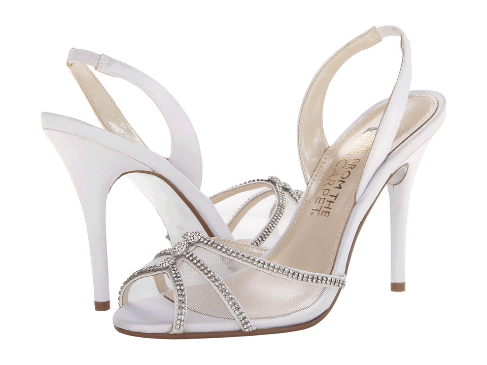 E! Live from the Red Carpet - Winnie (White Sateen) Women's Dress Sandals