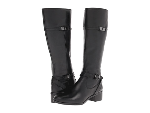 Bandolino - Cay (Black Leather) Women's Dress Boots