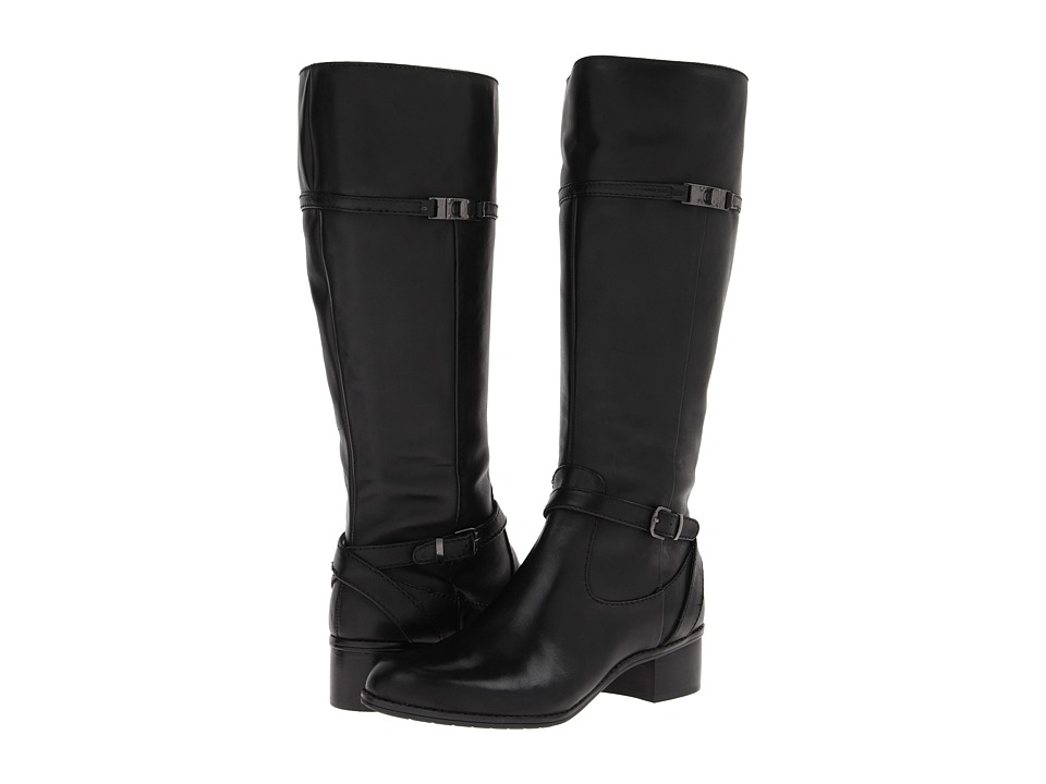 Bandolino - Callan Wide Calf (Black Leather) Women