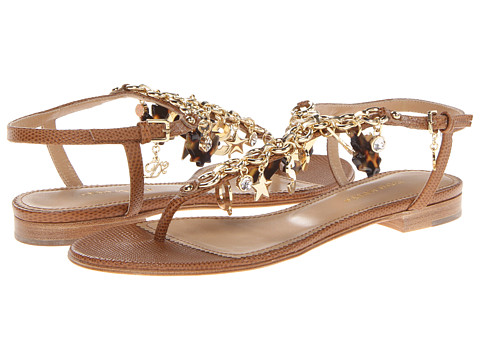 DSQUARED2 - Stampatino Infradito Sandal (Brown) Women's Sandals