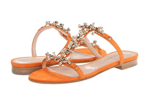 DSQUARED2 - Camoscio Flat Sandal (Arancio) Women