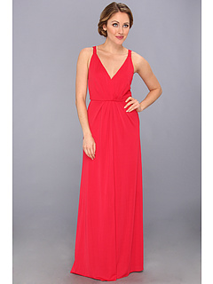 SALE! $254.99 - Save $83 on BCBGMAXAZRIA Hali V Neck Gown (Rio Red) Apparel - 24.56% OFF $338.00