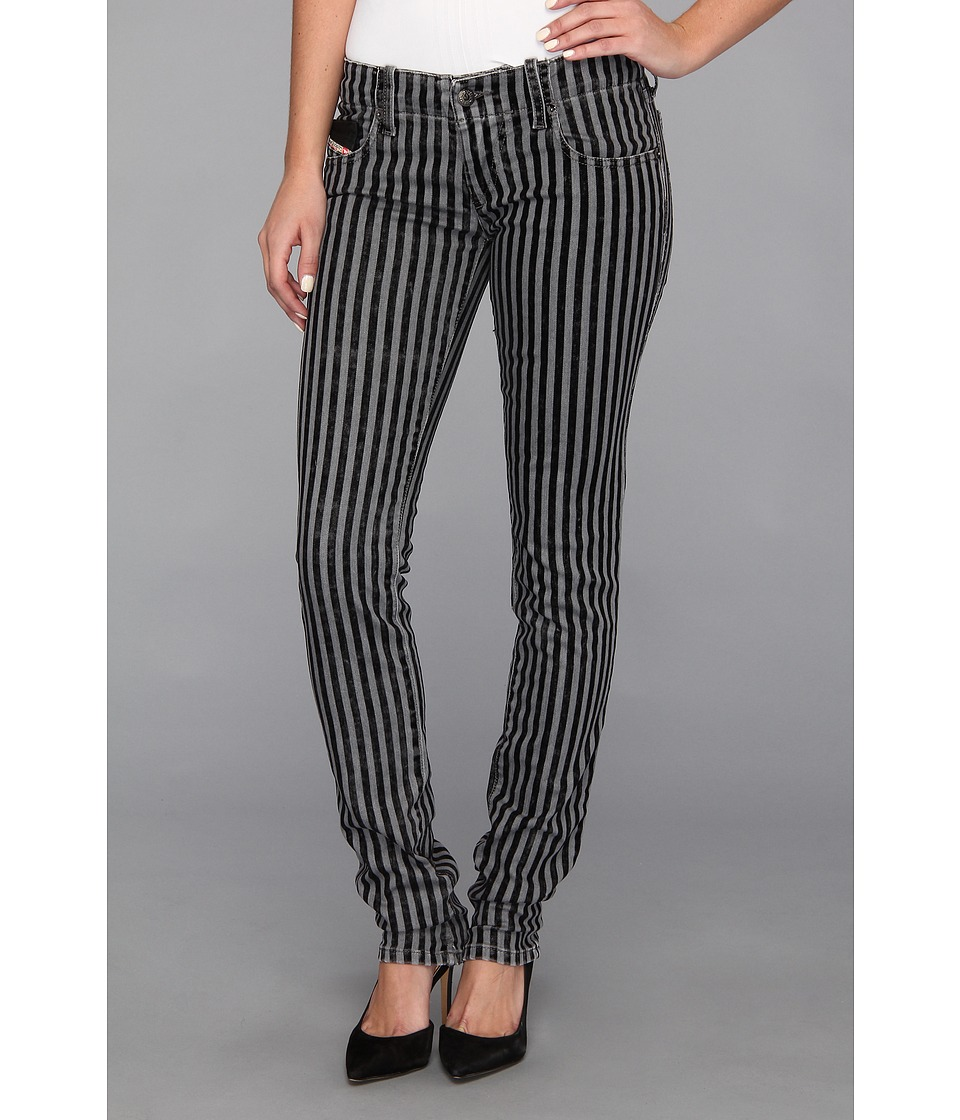 Diesel - Grupee Skinny 820Z (Black/White) Women's Jeans