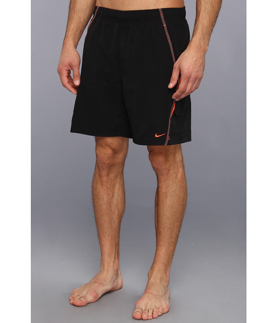 Nike - Core Velocity 7 Volley Short (Black) Men's Swimwear