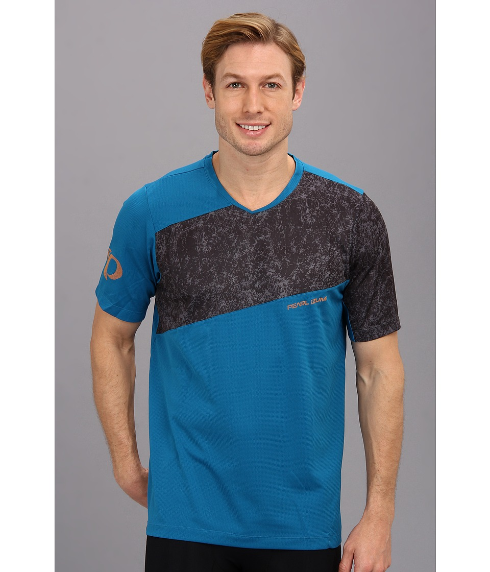 Pearl Izumi - Launch Jersey (Mykonos/Grey Scrib Camo) Men's T Shirt