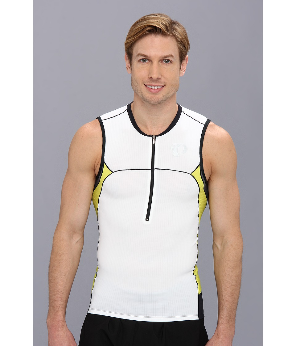 Pearl Izumi - ELITE In-R-Cool Tri S/L Jersey (White/Blazing Yellow) Men