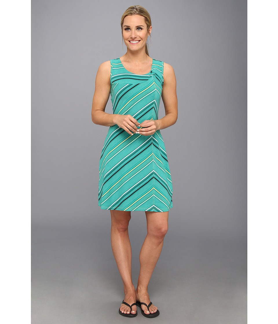 Royal Robbins - Essential Tencel Stripe Dress (Emerald) Women