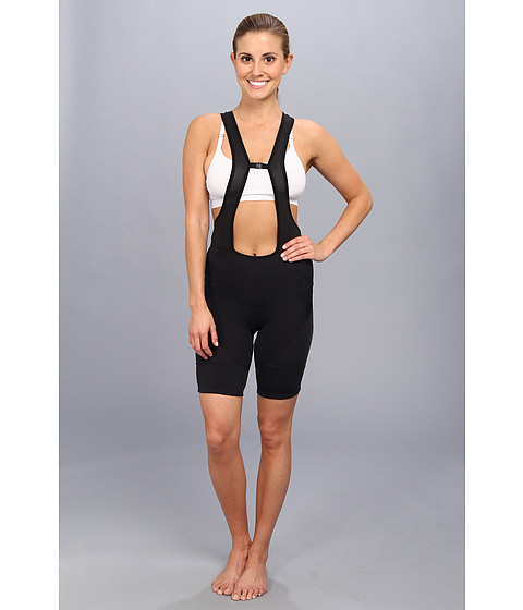 Pearl Izumi - W ELITE Drop Tail Bib Short (Black) Women's Race Suits One Piece