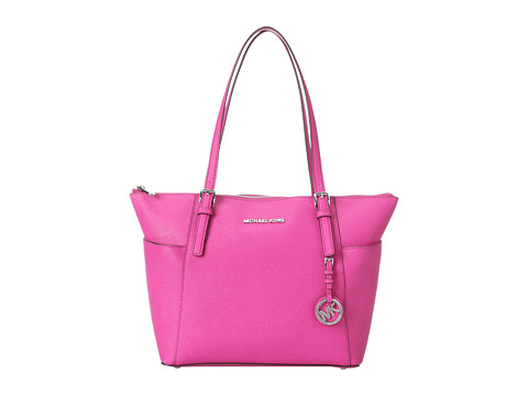 MICHAEL Michael Kors - Jet Set Saffiano Top Zip Tote (Fuschia) Tote Handbags