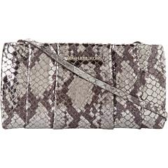 MICHAEL Michael Kors Daria Pleated Clutch (Silver) Clutch Handbags