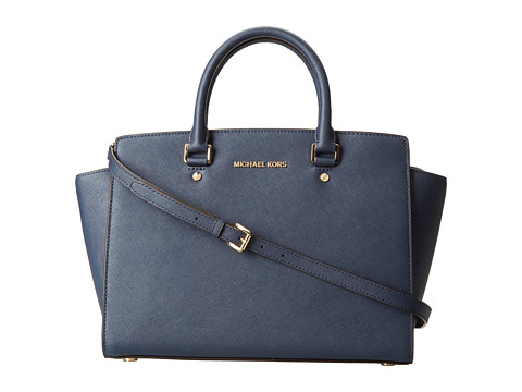 MICHAEL Michael Kors - Selma (Navy) Satchel Handbags