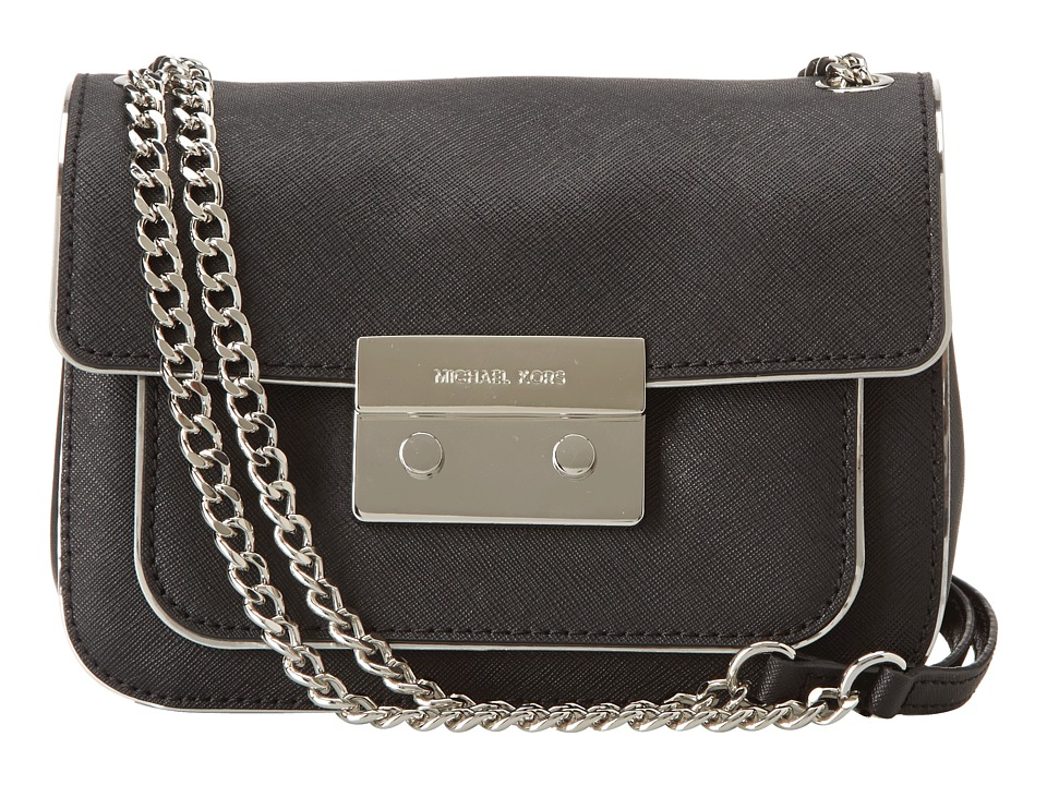 MICHAEL Michael Kors - Sloan Specchio Sm Shoulder Flap (Black) Shoulder Handbags