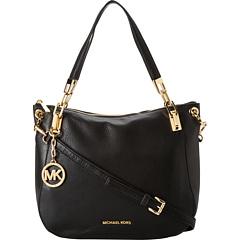 MICHAEL Michael Kors Brooke Large Shoulder Tote (Black) Tote Handbags