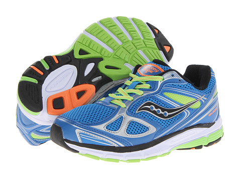 Saucony Kids - Guide 7 (Big Kid) (Blue/Slime/Orange) Boys Shoes