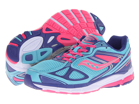 Saucony Kids - Guide 7 (Big Kid) (Blue/Pink/Purple) Girls Shoes
