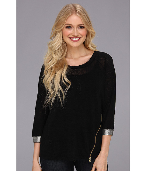 Townsen - Twilight 3/4 Top (Black) Women's Long Sleeve Pullover