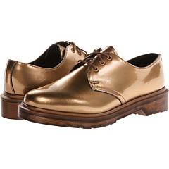 Dr. Martens 1461 3-Eye Shoe (Copper Spectra Patent) Women's Lace up casual Shoes