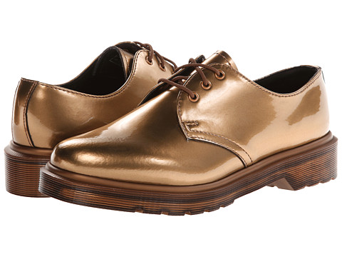 Dr. Martens 1461 3-Eye Shoe (Copper Spectra Patent) Women's Lace up casual Shoes