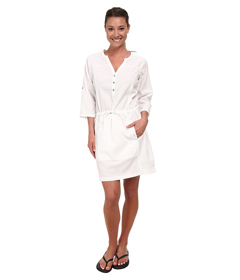 Royal Robbins - Cool Mesh Shirt Dress (White) Women's Dress