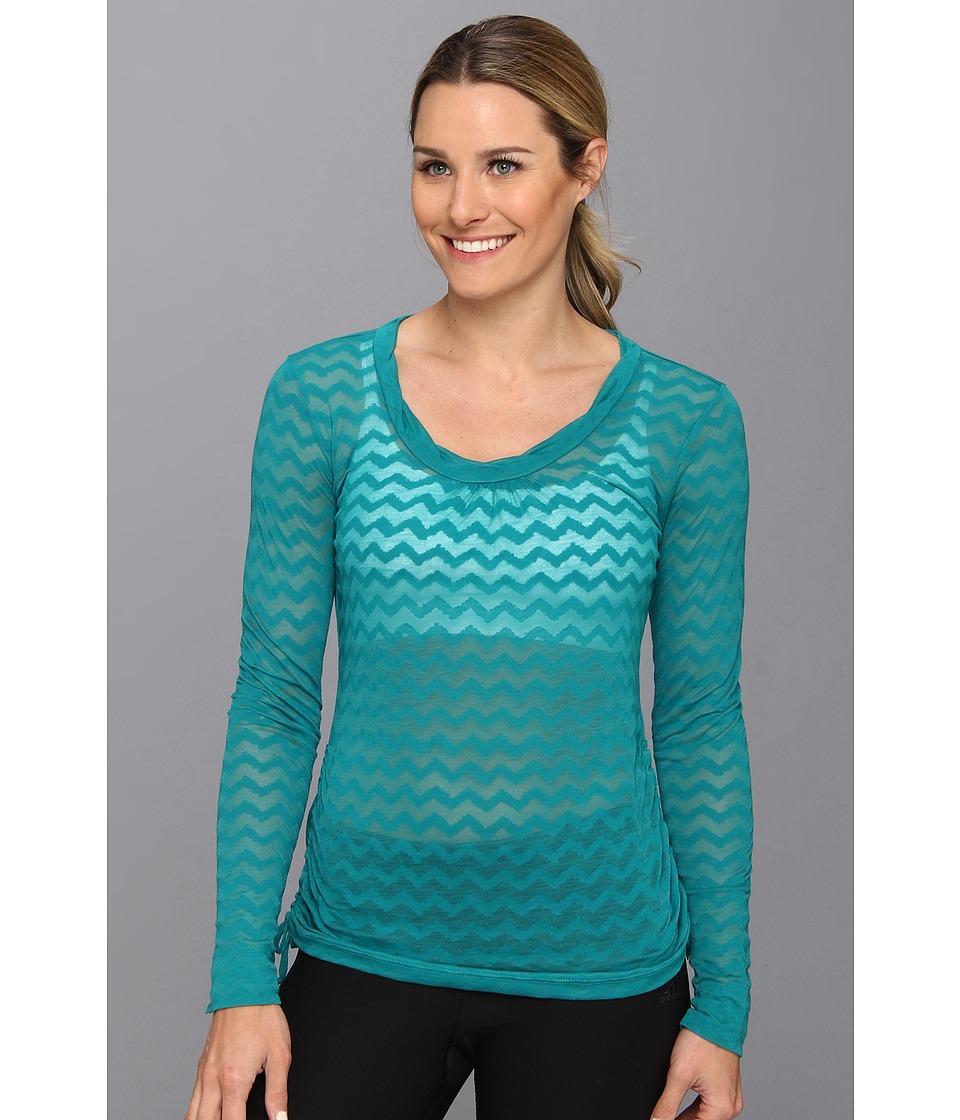 Lucy - Pranayama L/S Burnout (Verdial) Women's T Shirt