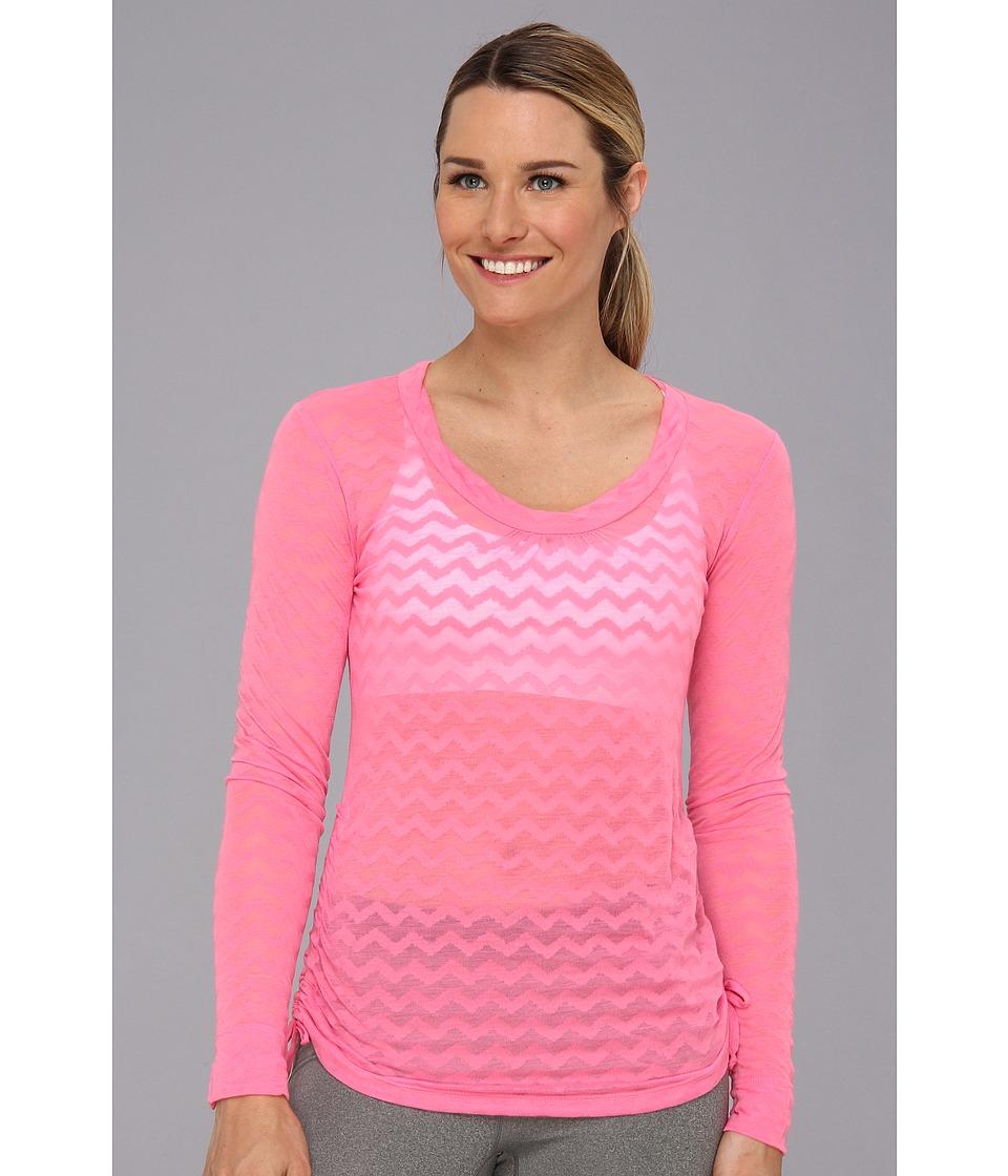 Lucy - Pranayama L/S Burnout (Neon Contrast Pink) Women