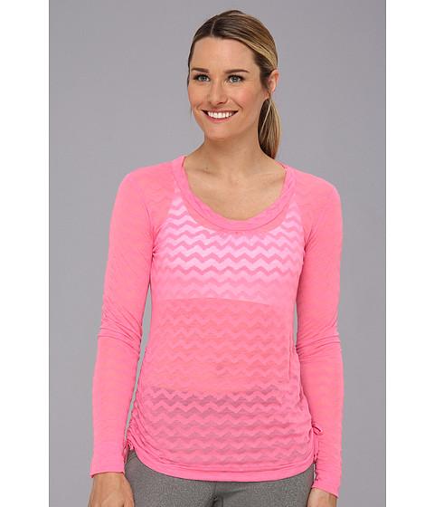 Lucy - Pranayama L/S Burnout (Neon Contrast Pink) Women's T Shirt