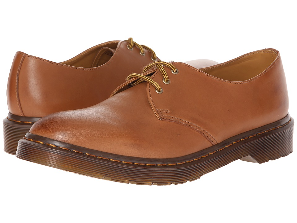 Dr. Martens - Dorian 3-Eye Shoe (Brown Rugged Servo Lux) Lace up casual Shoes