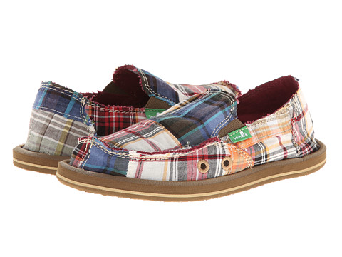 Sanuk Kids - Vagabond Madras (Little Kid/Big Kid) (Brown/Multi) Boy's Shoes