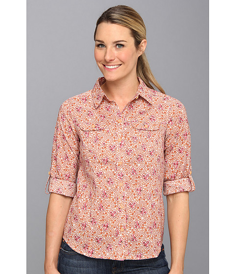 Royal Robbins - Daisy Chain L/S Top (Terra Rose) Women's Long Sleeve Button Up