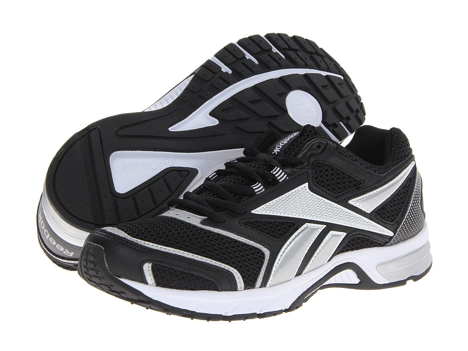 Reebok - Southrange Run L (Black/White/Pure Silver) Men's Running Shoes