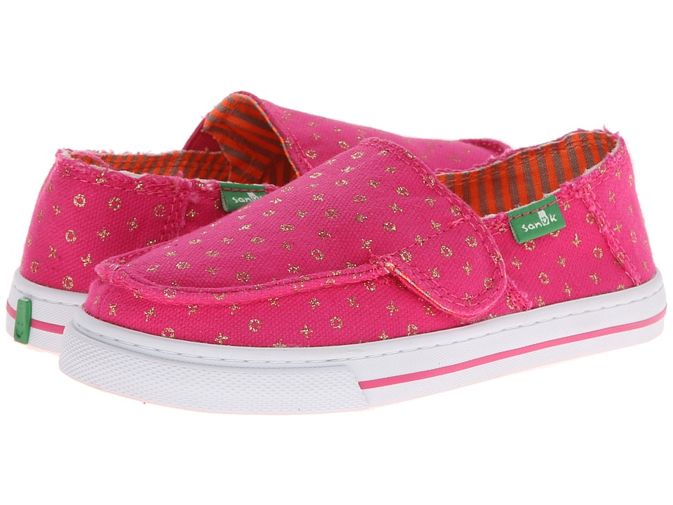 Sanuk Kids - Cabrio Sparkle (Toddler/Little Kid) (Fuchsia) Girls Shoes