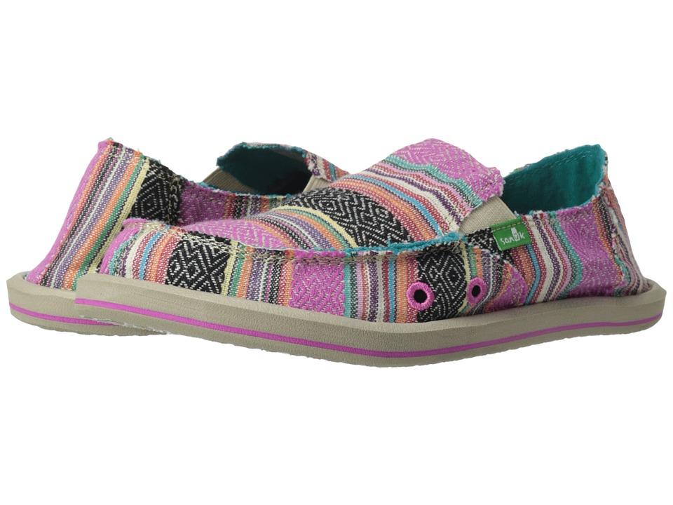Sanuk Kids - Donna (Little Kid/Big Kid) (Pink Poncho) Girls Shoes