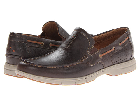 Clarks - Unnautical Bay (Dark Brown) Men's Shoes