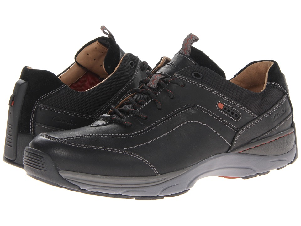 Clarks Skyward Vibe (Black Leather) Men