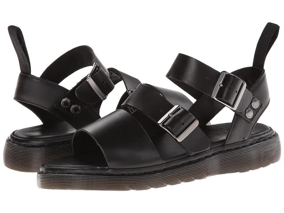 Dr. Martens - Gryphon Strap Sandal (Black Brando) Men's Sandals