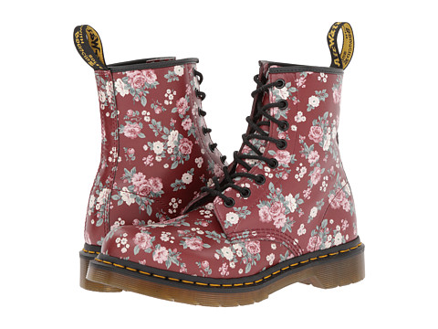 Dr. Martens 1460 W (Cherry Red Vintage Rose Softy T) Women's Lace-up Boots