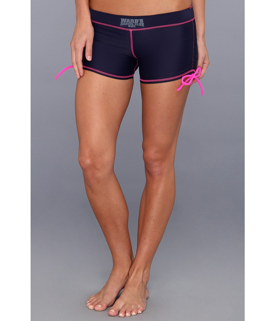 Ward's Boxing Club NYC - It's a Draw Short (No Decision Navy/Hot Pink) Women's Shorts