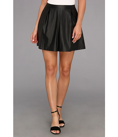 Tart - Evangeline Faux Leather Skirt (Black) Women's Skirt