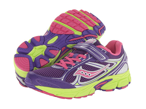 Saucony Kids - Cohesion 7 AC (Big Kid) (Purple/Pink/Citron) Girls Shoes