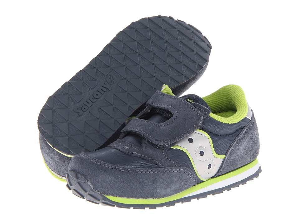 Saucony Kids - Baby Jazz HL (Toddler/Little Kid) (Navy/Silver/Lime) Boys Shoes