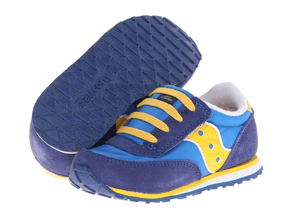 Saucony Kids - Baby Jazz A/C (Toddler/Little Kid) (Cobalt/Royal/Yellow) Boys Shoes
