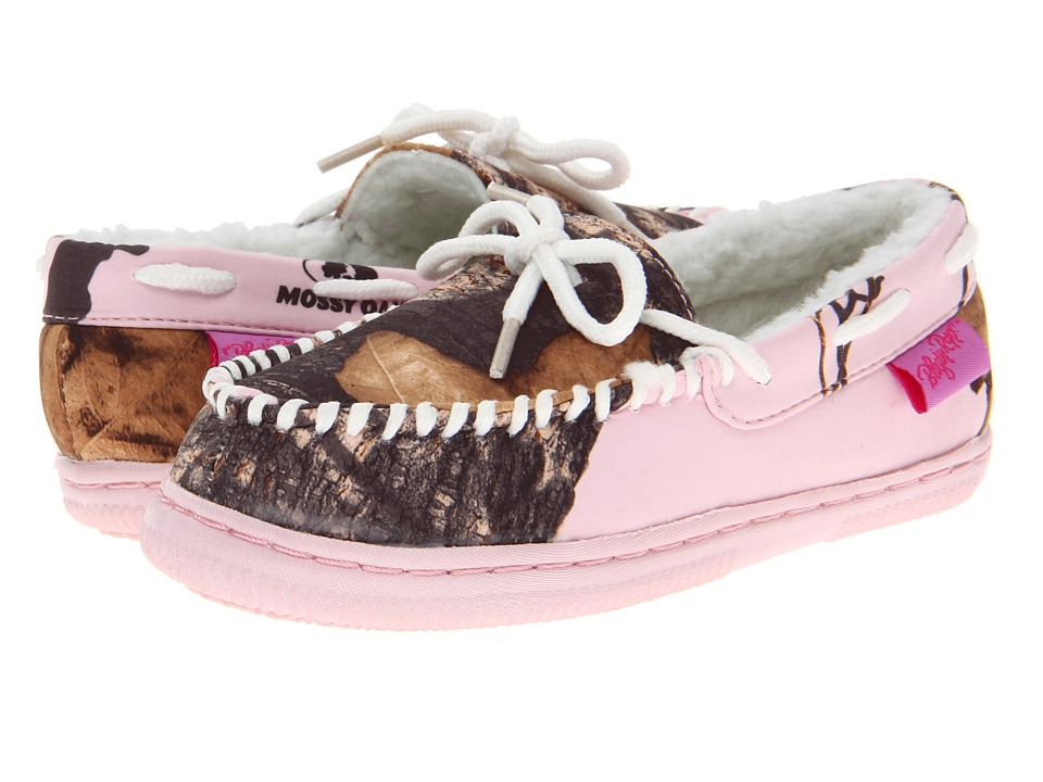 M&F Western - Mossy Oak Moccasin Slippers (Toddler/Little Kid/Big Kid) (Pink Mossy Oak/White) Women