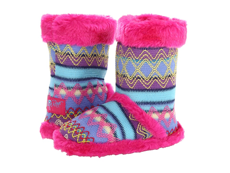 M&F Western - Knit Print Bootie Slippers (Toddler/Little Kid/Big Kid) (Hot Pink) Women's Slippers