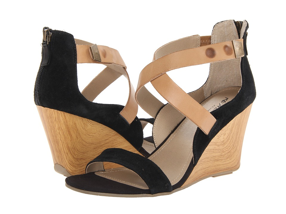 Kenneth Cole Reaction Oh Ava Womens Wedge Shoes (Black)