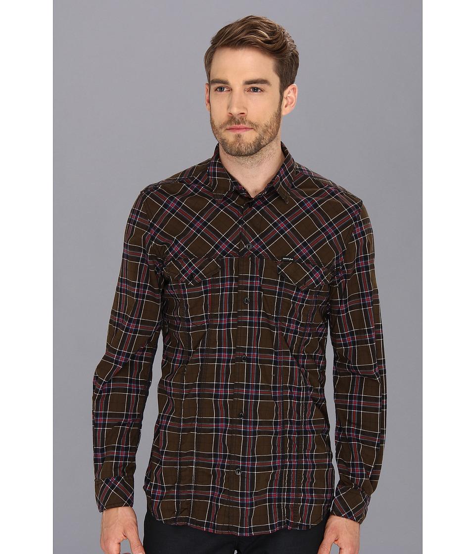 Diesel - Stulipa Shirt (Coffee) Men's Long Sleeve Button Up
