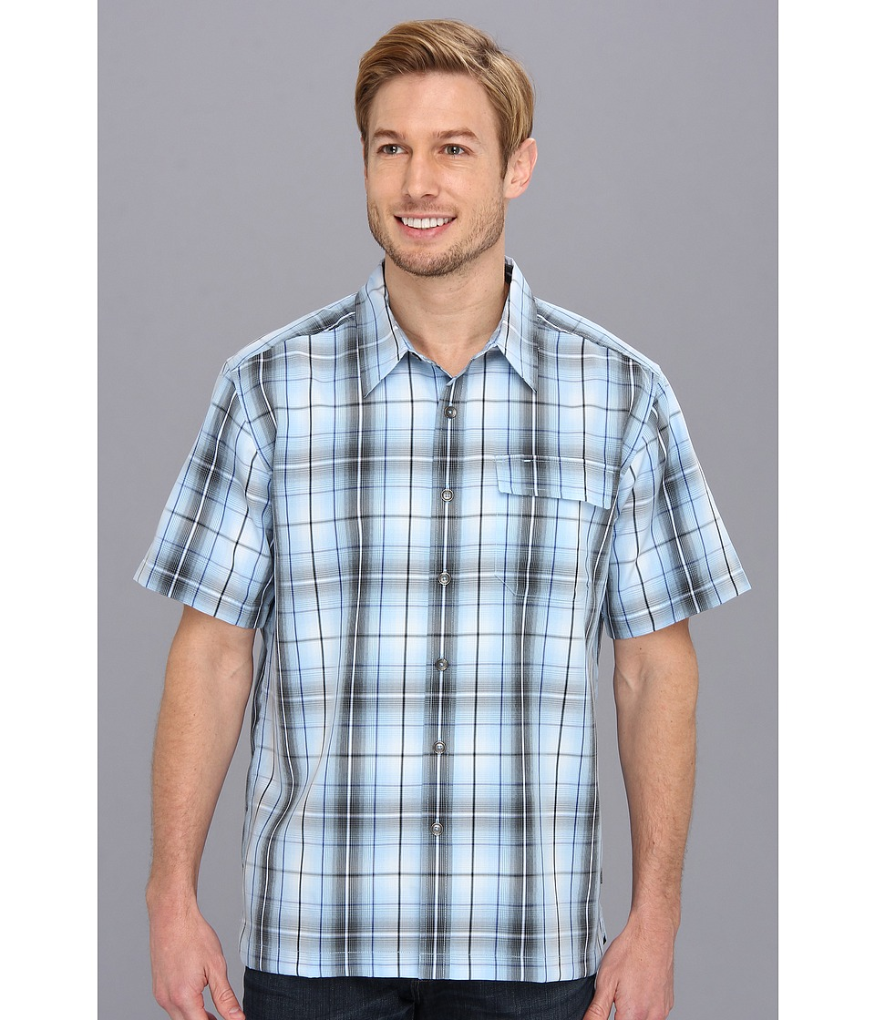 Royal Robbins - Plateau Plaid S/S (Mist) Men's Short Sleeve Button Up